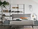 Двуспальная кровать с обивкой Bravo  180 х 200