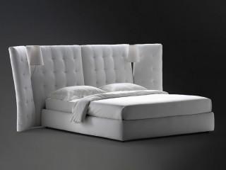 Ліжко зі стьобаним узголів'ям-ширмою Angle